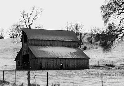 Photograph - History Barn by J L Zarek