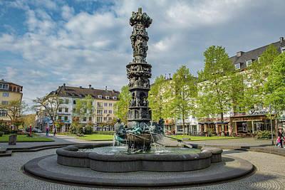 History Fountain -koblenz - Germany Art Print by Jon Berghoff