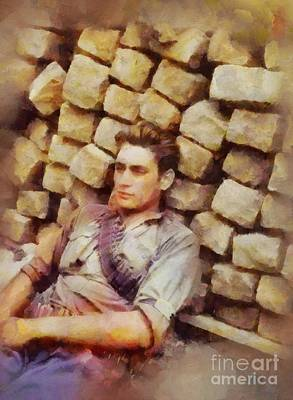 Trench Warfare Painting - History In Color. French Resistance Fighter, Wwii by Sarah Kirk