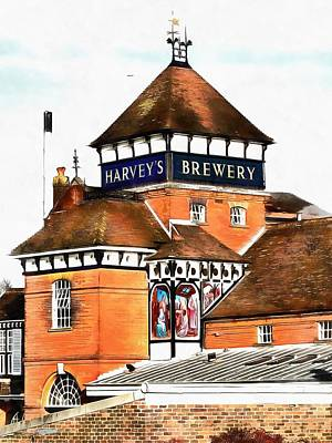 Photograph - History In Lewes Harveys Brewery by Dorothy Berry-Lound