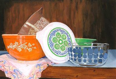 Painting - History Of Pyrex by Lynne Reichhart