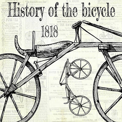 Digital Art - History Of The Bicycle B by Jean Plout
