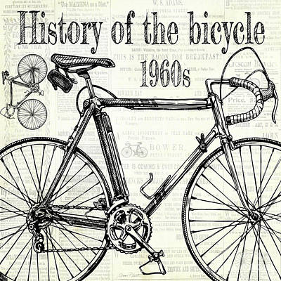 Digital Art - History Of The Bicycle E by Jean Plout