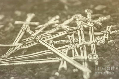 Metal Art Photograph - History Of The Sword by Jorgo Photography - Wall Art Gallery
