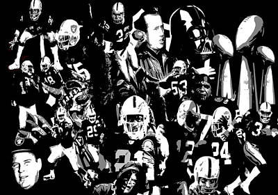 History Raider Nation A Collage Art Print by John Farr