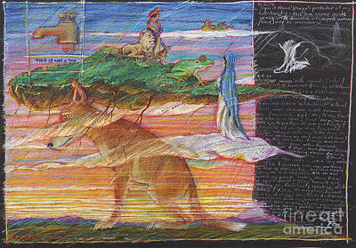 Buzzard Drawing - Historys Burden by Martyn Fox