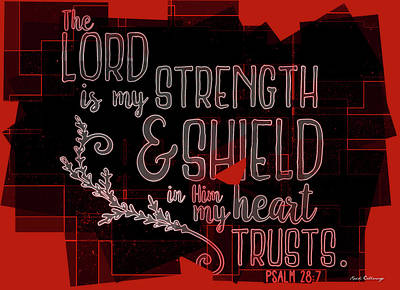 Photograph - Hisworks Godart 8 Psalm 28 7 The Truth Bible Art by Reid Callaway