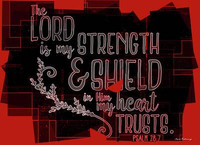 Photograph - Hisworks Godart 8 Psalm 28 7 The Truth Bible Art by Reid Callaway
