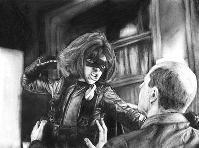 Dallas Drawing - Hit Girl by Dallas Rowlands
