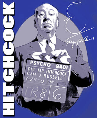 Autographed Digital Art - Hitchcock by Greg Joens