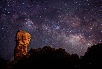 Hitchcock Pinnacle Nightscape -- Milky Way Art Print