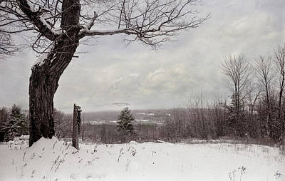 Photograph - Hitching Post Under A Painted Sky by Wayne King