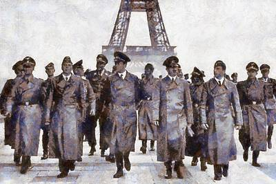 Hitler In Paris Art Print