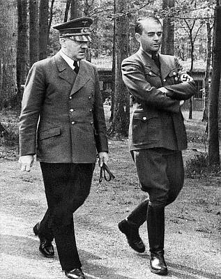 Speer Photograph - Hitler Strolling With Albert Speer Unknown Date Or Location by David Lee Guss