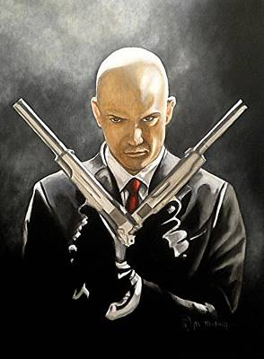 Video Game Painting - Hitman by Al  Molina