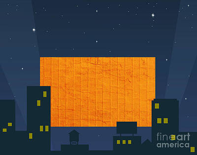 City Scape Digital Art - Hitting A Brick Wall Is Nite Life by Marsha Heiken