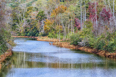 Photograph - Hiwassee River In Autumn by John M Bailey