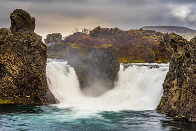 Photograph - Hjalparfoss by James Billings
