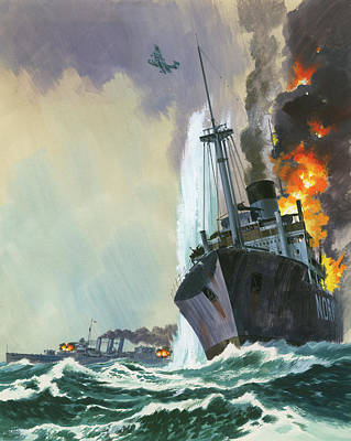 Cruiser Painting - Hk Thirty Three  The Deadly Penguin by Wilf Hardy