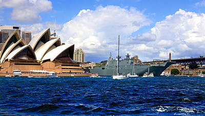 Photograph - Hmas Adelaide Helps Sydney Celebrate by Miroslava Jurcik