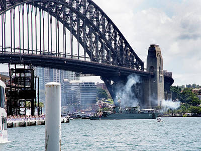 Photograph - Hmas Yarra 87 And Harbour Bridge by Miroslava Jurcik