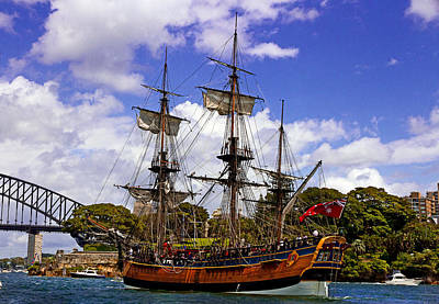 Photograph - Hmb Endeavour And Kirribilli Point  by Miroslava Jurcik
