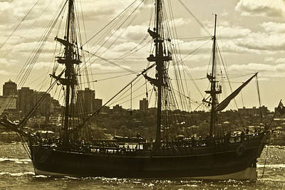 Photograph - Hmb Endeavour Sails Sydney Harbour by Miroslava Jurcik