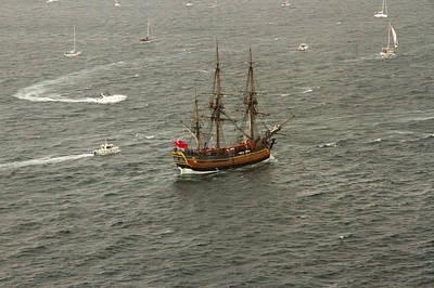 Photograph - Hmb Endevour Enters Sydney Harbour by Miroslava Jurcik