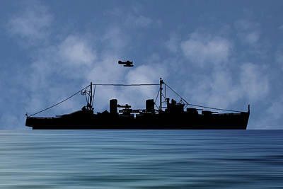 Royal Navy Photograph - Hms Arboukir 1937 V1 by Smart Aviation