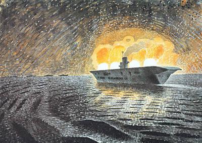 Hms Ark Royal Art Print by Charlie Ross