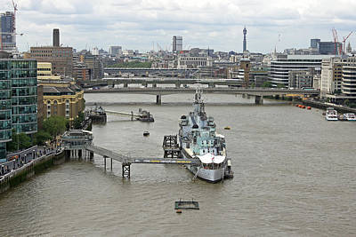 Photograph - Hms Belfast by Tony Murtagh