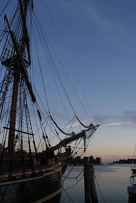 Photograph - Hms Bounty Ship - Sunset At The Cove by Margie Avellino