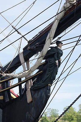 Photograph - Hms Bounty Ship Figurehead by Margie Avellino