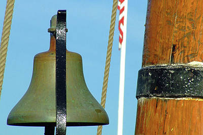 Photograph - Hms Bounty Ships Bell by Brian Pflanz