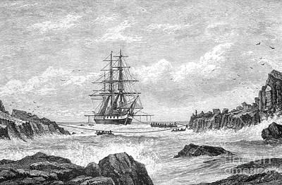 Hms Challenger Expedition 1872-76 Art Print
