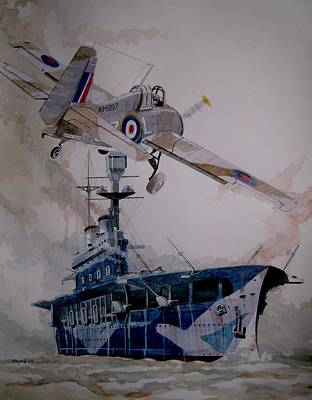 Painting - Hms Eagle by Ray Agius