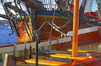 Photograph - Hms Endeavour And Pinnace by Miroslava Jurcik