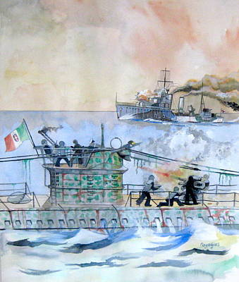 Painting - Hms Ithruiel by Ray Agius