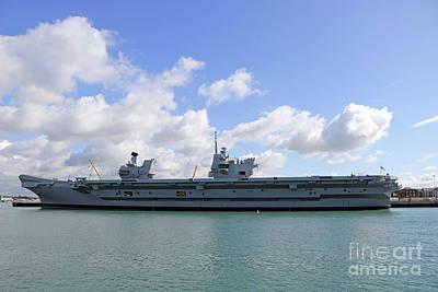 Photograph - Hms Queen Elizabeth II At Portmouth Harbour by Julia Gavin