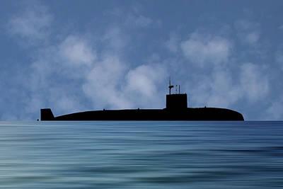 Submarine Photograph - Hms Sovereign 1973 V1 by Smart Aviation