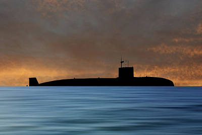 Submarine Photograph - Hms Sovereign 1973 V3 by Smart Aviation