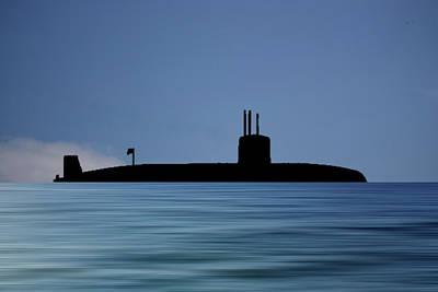 Submarine Photograph - Hms Valiant 1972 V4 by Smart Aviation