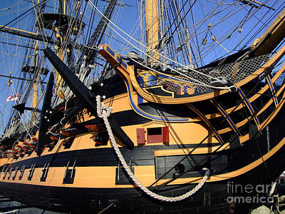 Lord Admiral Nelson Photograph - Hms Victory At Portsmouth Historic Dockyard by Paul Cummings