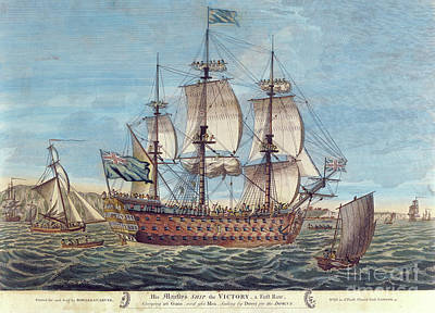 Ship. Galleon Painting - Hms Victory by English School