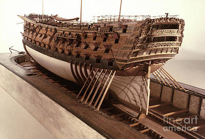 Photograph - Hms Victory Model by Granger