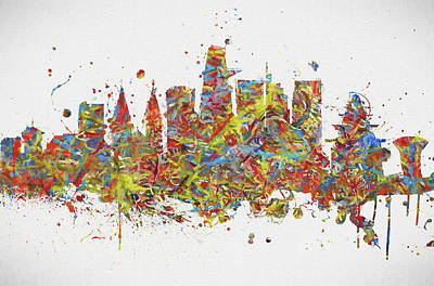 Painting - Ho Chi Minh City Colorful Skyline by Dan Sproul