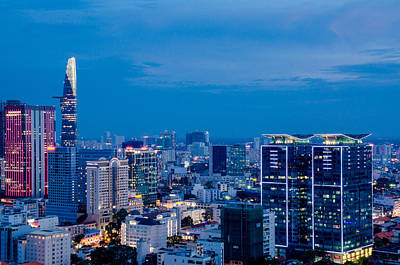 Photograph - Ho Chi Minh City Night by Tran Minh Quan
