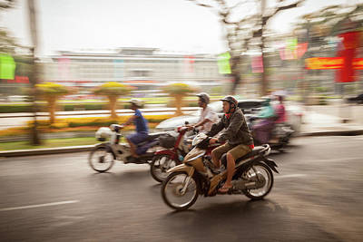Photograph - Ho Chi Minh Motorcycles by Erika Gentry