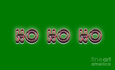 Fun Drawing - Ho Ho Ho Christmas Tee by Edward Fielding