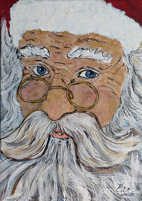 Painting - Ho Ho Ho Just Call Me Santa by Ella Kaye Dickey